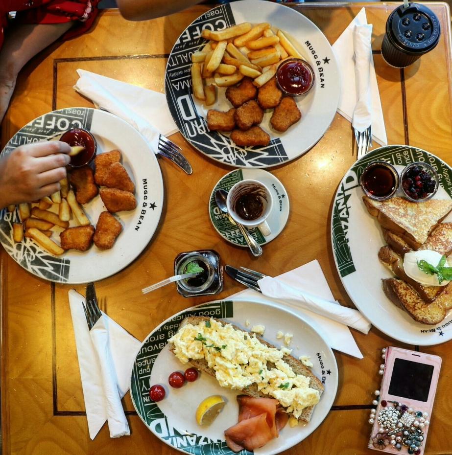 Breakfast at Mugg&Bean! Etihad Plaza,AbuDhabi